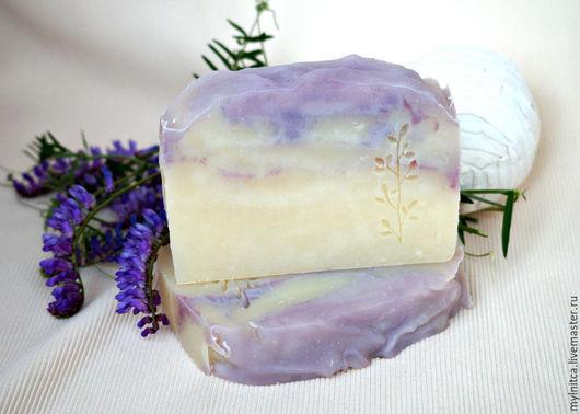 Мыло ручной работы. Ярмарка Мастеров - ручная работа. Купить Шелковый шалфей натуральное мыло с нуля. Handmade. Сиреневый