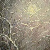 Картины и панно ручной работы. Ярмарка Мастеров - ручная работа Лунная метель. Handmade.