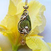 Украшения handmade. Livemaster - original item WIRE WRAP // Pendant handmade // Forest fairy. Small pendant. Handmade.