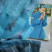 """Одежда ручной работы. Ярмарка Мастеров - ручная работа Валяный сарафан """"Голубая лагуна"""" купить. Handmade."""