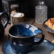 Посуда handmade. Livemaster - original item 300 ml mug with saucer Jotunheim series. Handmade.