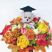 """Цветы и флористика ручной работы. Ярмарка Мастеров - ручная работа Букет из конфет """"Учителю"""". Handmade."""