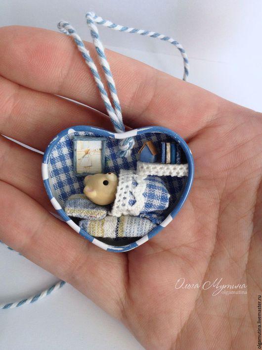 Кукольный дом ручной работы. Ярмарка Мастеров - ручная работа. Купить Домик в сердце. Handmade. Голубой, мини-кукла, бумага