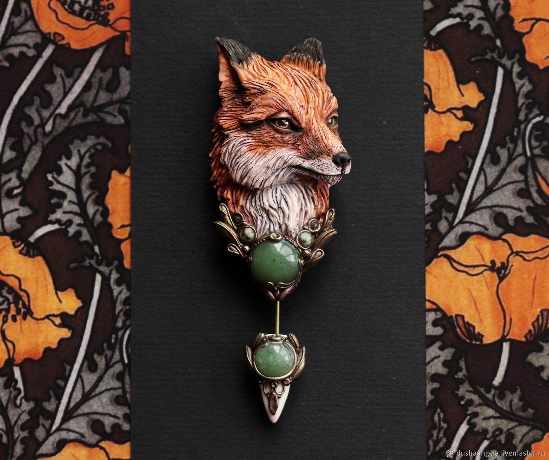 Brooch needle: ' Sly Fox ' modern, animals, Stick pin, Vladimir,  Фото №1