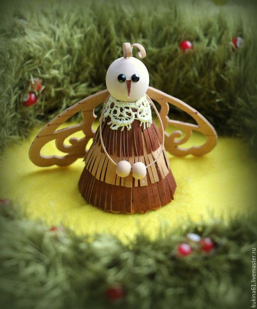 Новый год 2017 ручной работы. Ярмарка Мастеров - ручная работа. Купить пчелка. Handmade. Комбинированный, бусины деревянные, ручная работа