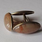 Винтаж handmade. Livemaster - original item Cufflinks, natural stone, 1950s. Handmade.