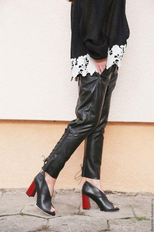 Брюки, шорты ручной работы. Ярмарка Мастеров - ручная работа. Купить Летние брюки/Модные брюки/F1581. Handmade. Черный, брюки женские