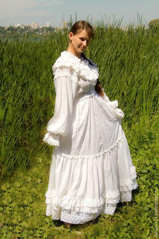 Платья ручной работы. Ярмарка Мастеров - ручная работа. Купить Красивое белое платье. Handmade. Белый, для будущих мам