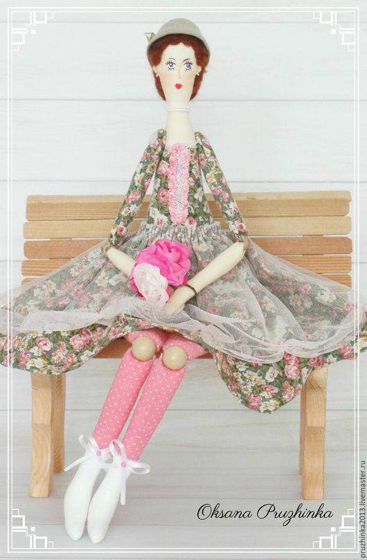 Коллекционные куклы ручной работы. Ярмарка Мастеров - ручная работа. Купить Цветочница Анюта. Handmade. Бледно-розовый, подарок женщине