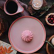 Посуда handmade. Livemaster - original item Set of tableware: Teapot, 300 ml mug, flat plate 22 cm. Handmade.