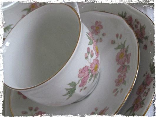 Винтажная посуда. Ярмарка Мастеров - ручная работа. Купить Чешский фарфор. Handmade. Бледно-розовый, коллекция