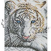 Материалы для творчества ручной работы. Ярмарка Мастеров - ручная работа Бенгальский тигр. Схема для вышивки бисером на габардине. Handmade.