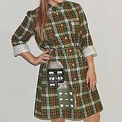 Одежда ручной работы. Ярмарка Мастеров - ручная работа Фланелевое платье Города П-142. Handmade.