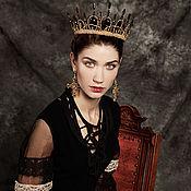 Украшения handmade. Livemaster - original item Crown for a photo shoot bead and crystal. Handmade.