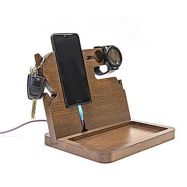 Для дома и интерьера ручной работы. Ярмарка Мастеров - ручная работа Органайзер для телефона, часов и мелочей. Handmade.