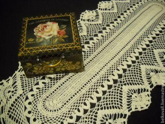 Текстиль, ковры ручной работы. Ярмарка Мастеров - ручная работа. Купить Салфетка на стол-тумбу. Handmade. Белый, Вязание крючком