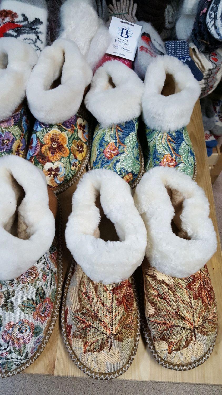 Женские чуни из овчины Гобелен, Тапочки, Москва,  Фото №1