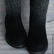 """Обувь ручной работы. Ярмарка Мастеров - ручная работа Сапоги-валенки """"Зимний вечер"""". Handmade."""
