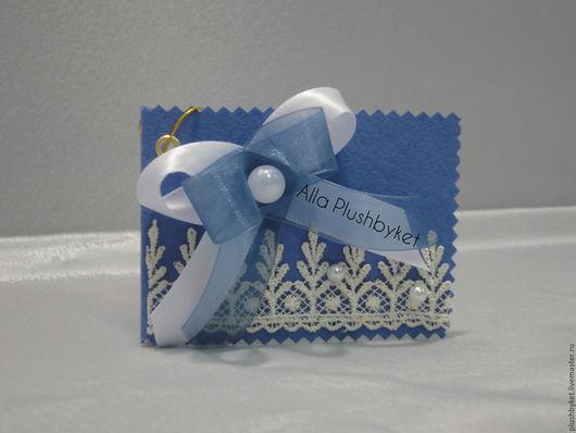 Открытки на день рождения ручной работы. Ярмарка Мастеров - ручная работа. Купить Открытка мини голубая на рождение. Handmade. Голубой