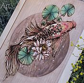 Pictures handmade. Livemaster - original item Wood Watercolor Wall Art