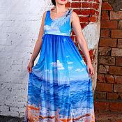 Одежда ручной работы. Ярмарка Мастеров - ручная работа Платье Море. Handmade.