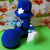Мягкие игрушки ручной работы. Ярмарка Мастеров - ручная работа Игрушки: Сапог полицейский подставка для ручек. Handmade.