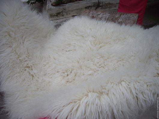 Винтажные предметы интерьера. Ярмарка Мастеров - ручная работа. Купить Ковер из овечьей шерсти, винтаж. Handmade. Белый, Овечья шерсть