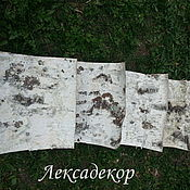 Материалы для творчества handmade. Livemaster - original item Birch bark in sheets for creativity. Birch bark DIY.. Handmade.