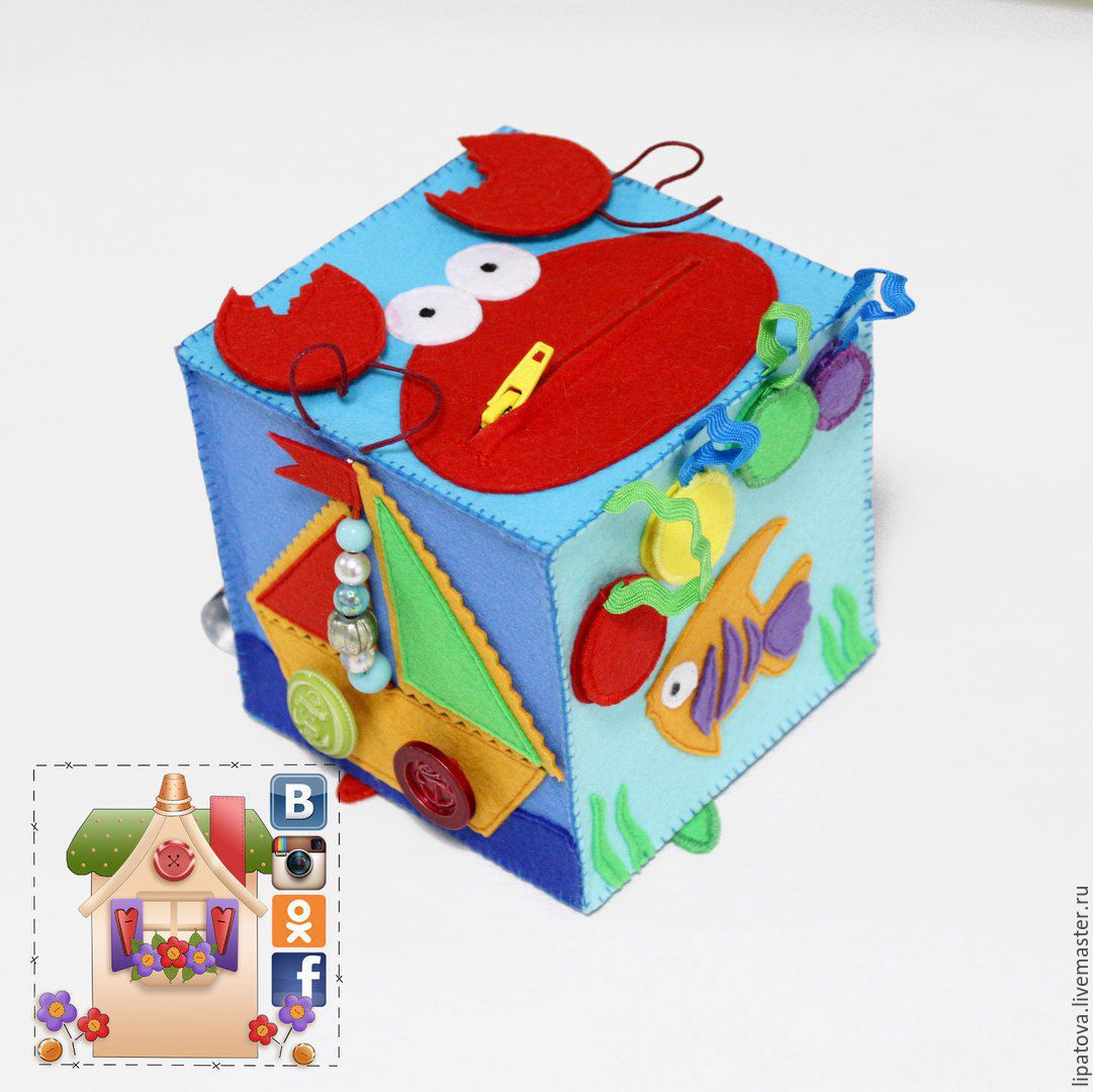 Развивающие кубики для детей своими руками из ткани выкройки 45
