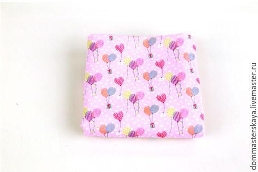 Шитье ручной работы. Ярмарка Мастеров - ручная работа. Купить 100% хлопок Корея, воздушные шары розовые. Handmade. Хлопок