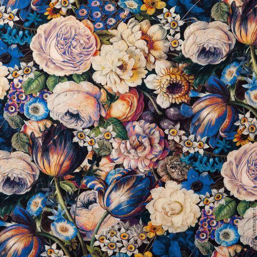 Шитье ручной работы. Ярмарка Мастеров - ручная работа. Купить Креп шерсть плательная цветочный принт  5 расцветок. Handmade.