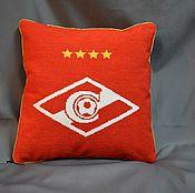 Для дома и интерьера handmade. Livemaster - original item Cushion with the emblem of