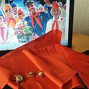 Винтаж handmade. Livemaster - original item Pioneer tie, USSR badges, pioneer cap. Handmade.