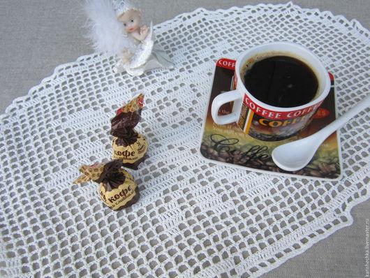 Текстиль, ковры ручной работы. Ярмарка Мастеров - ручная работа. Купить Салфетки филейные,набор 2шт.. Handmade. Белый