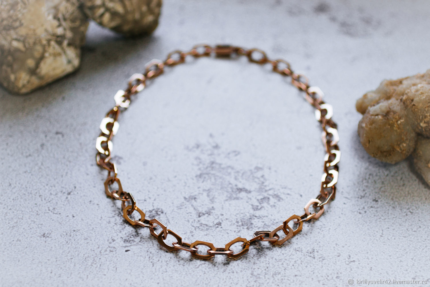 Chain on order from gold 585 100 gr. 63 cm, Chain bracelet, Kemerovo,  Фото №1