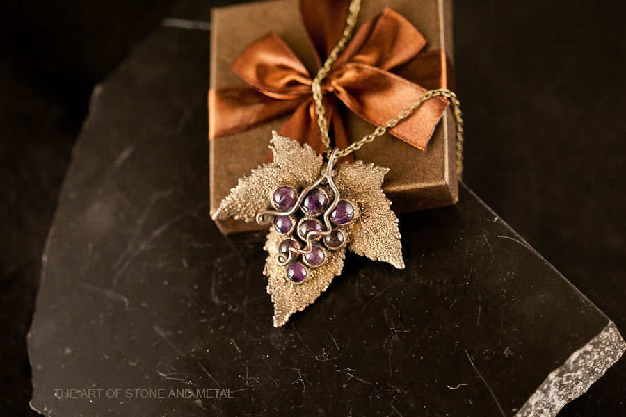Pendant with amethyst cabochon Wild Grapes, Pendants, St. Petersburg,  Фото №1