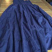 Одежда ручной работы. Ярмарка Мастеров - ручная работа Юбка хлопковая ярусная на резинке длинная в пол. Handmade.
