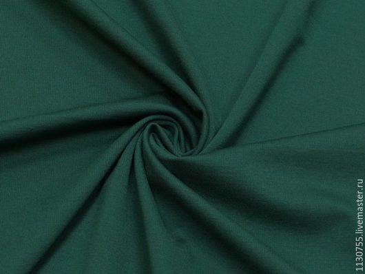 Шитье ручной работы. Ярмарка Мастеров - ручная работа. Купить Новинка!  Ткань трикотаж джерси т.зеленый. Handmade.