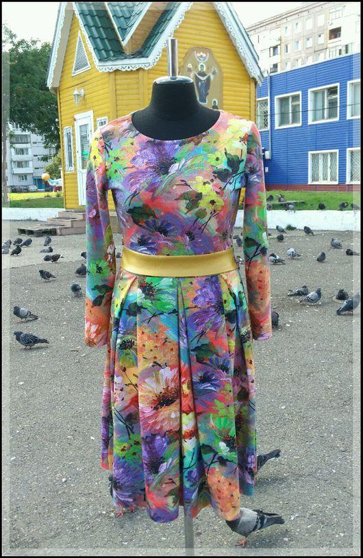 Платья ручной работы. Ярмарка Мастеров - ручная работа. Купить Платье из джерси. Handmade. Платье, принт