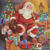 Материалы для творчества handmade. Livemaster - original item Napkins for decoupage new year christmas paper. Handmade.
