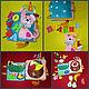 Развивающие игрушки ручной работы. детская развивающая книга из фетра. Светлана Лата  (Karasenochek). Интернет-магазин Ярмарка Мастеров. Дети