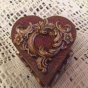 Для дома и интерьера ручной работы. Ярмарка Мастеров - ручная работа Шкатулка в форме сердца для Екатерины. Handmade.