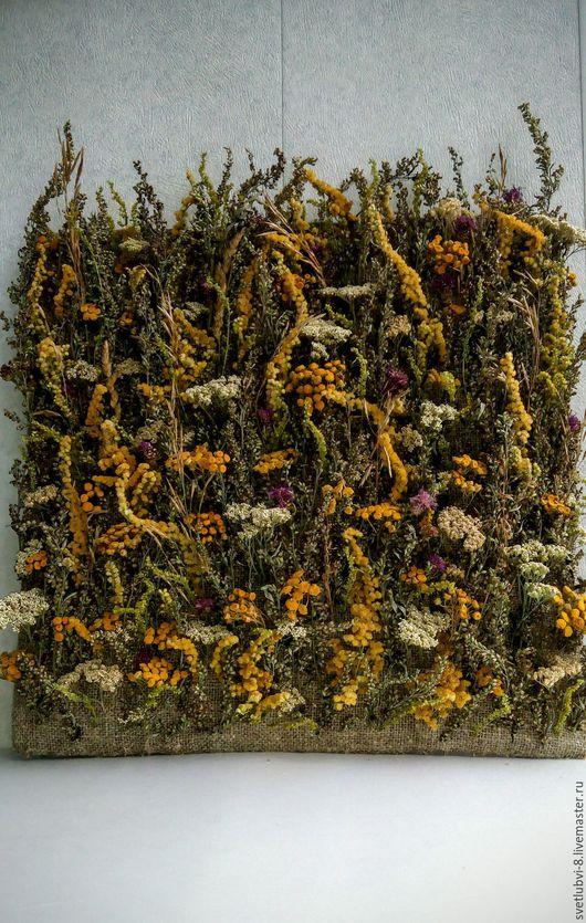 """Картины цветов ручной работы. Ярмарка Мастеров - ручная работа. Купить Эко панно """"Запах лета"""". Handmade. Комбинированный, травы"""