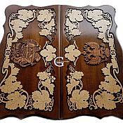 Подарки к праздникам handmade. Livemaster - original item Hand-carved backgammon