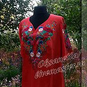 Одежда handmade. Livemaster - original item Dress-embroidery