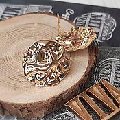 Материалы для творчества handmade. Livemaster - original item Earrings studs 18.5x19 mm gold plated (4203). Handmade.