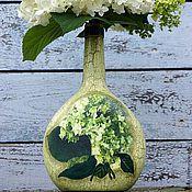 Для дома и интерьера ручной работы. Ярмарка Мастеров - ручная работа Бутылочка-ваза  Гортензия. Handmade.