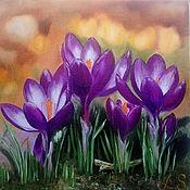 Картины ручной работы. Ярмарка Мастеров - ручная работа Картина маслом Весна. Handmade.