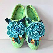 """Обувь ручной работы. Ярмарка Мастеров - ручная работа Тапочки валяные """"Лера"""". Handmade."""