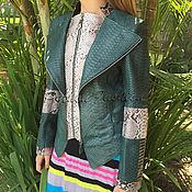 Одежда handmade. Livemaster - original item Women`s Python jacket DELUER. Handmade.